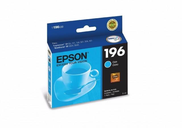 Cartucho Epson T196 Cyan T196220