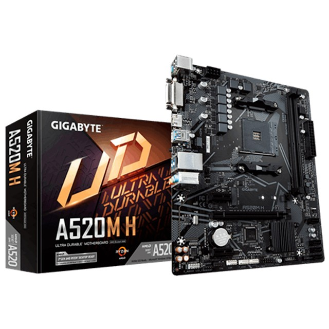 Mother Gigabyte A520M-H AM4 (SOLO 3ERA GEN)