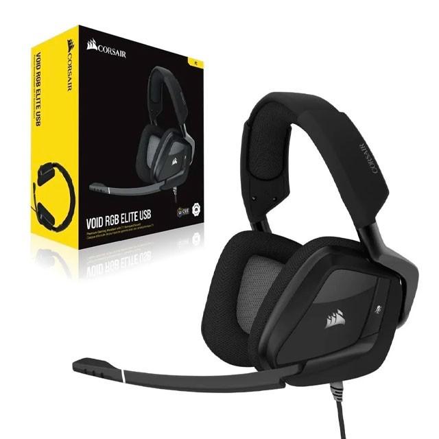 Auriculares Corsair VOID RGB Elite Carbon Gaming Headset 7.1 USB