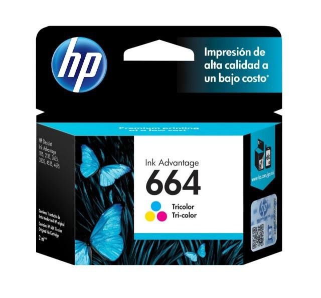 Cartucho HP 664 Color HEWF6V28AL