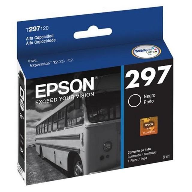 Cartucho Epson T297 Negro Alta Capacidad T297120