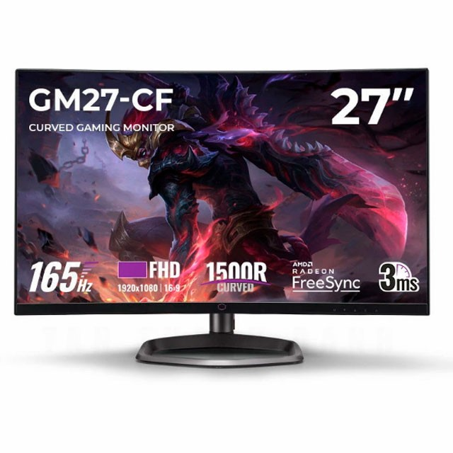 Monitor Gamer Curvo Cooler Master GM27-CF 27 165Hz VA HDMI/DP