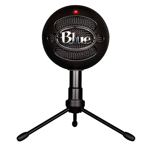 Micrófono Logitech Blue Snowball iCE Black p/Streaming PC