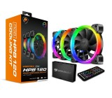 Cooler Fan KIT Cougar Vortex HPB 120 RGB (3x120mm + Controlador + Control Remoto)