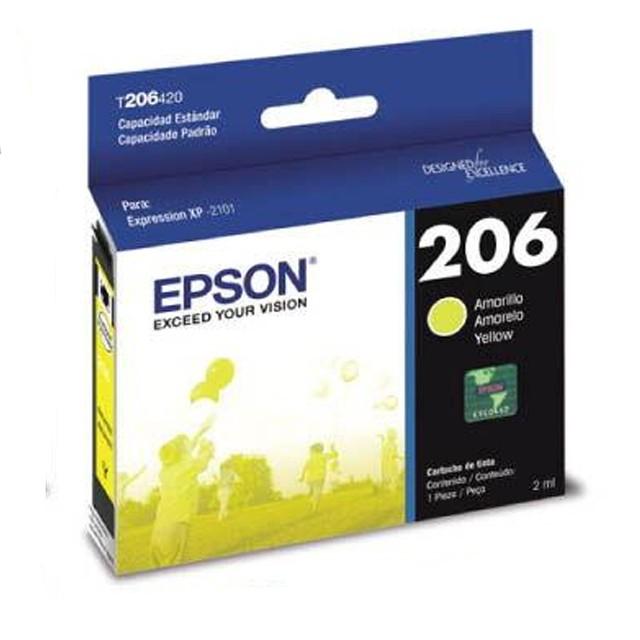 Cartucho Epson T206 Amarillo T206420 (XP-2101)