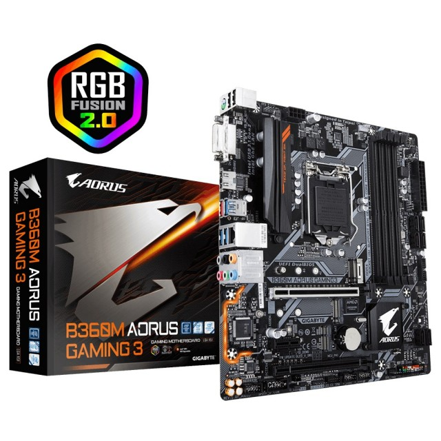 Mother Gigabyte B360M AORUS Gaming 3 RGB (8va Gen) S1151
