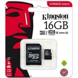 Micro SD Kingston 16GB Clase 10 UHS-I 80Mb/s