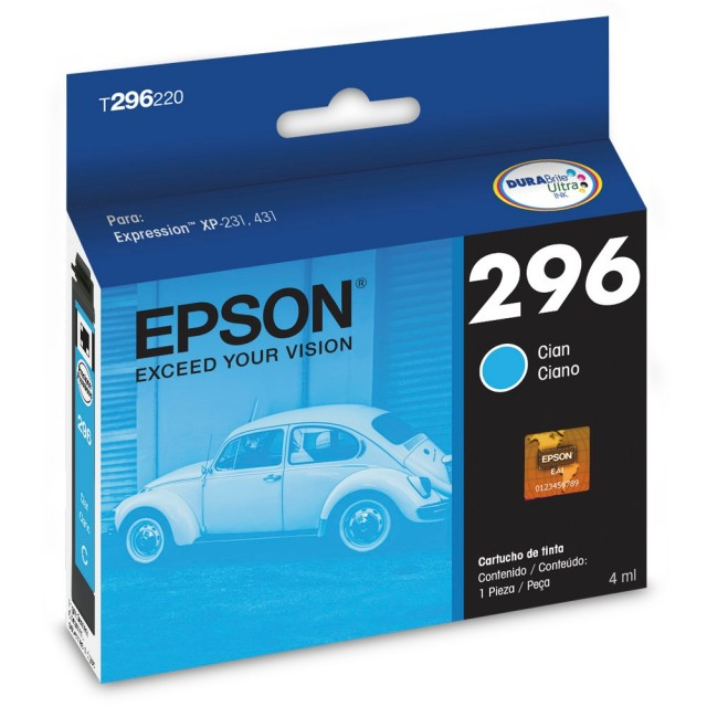Cartucho Epson T296 Cyan T296220