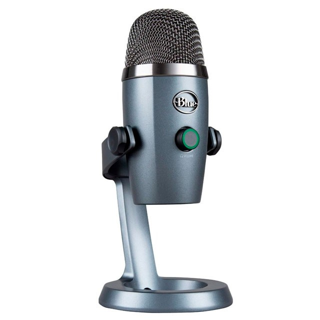 Micrófono Logitech Blue Yeti Nano Shadow Grey p/Streaming PC