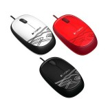 Mouse Logitech M105 Black/White/Red USB