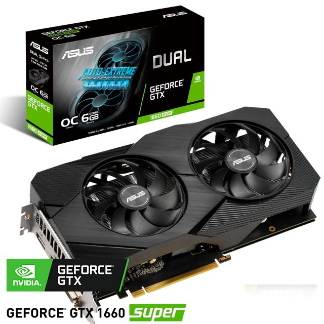 Placa de Video ASUS NVIDIA GeForce GTX1660 SUPER Dual OC 6Gb GDDR6