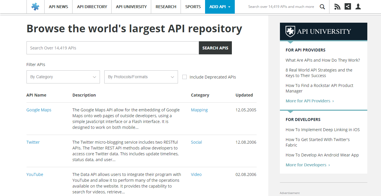 Queremos ajudá-lo a encontrar as melhores APIs. Conheça 5 sites para descobrir APIs, e que te ajudarão a testar e construir apps incríveis!