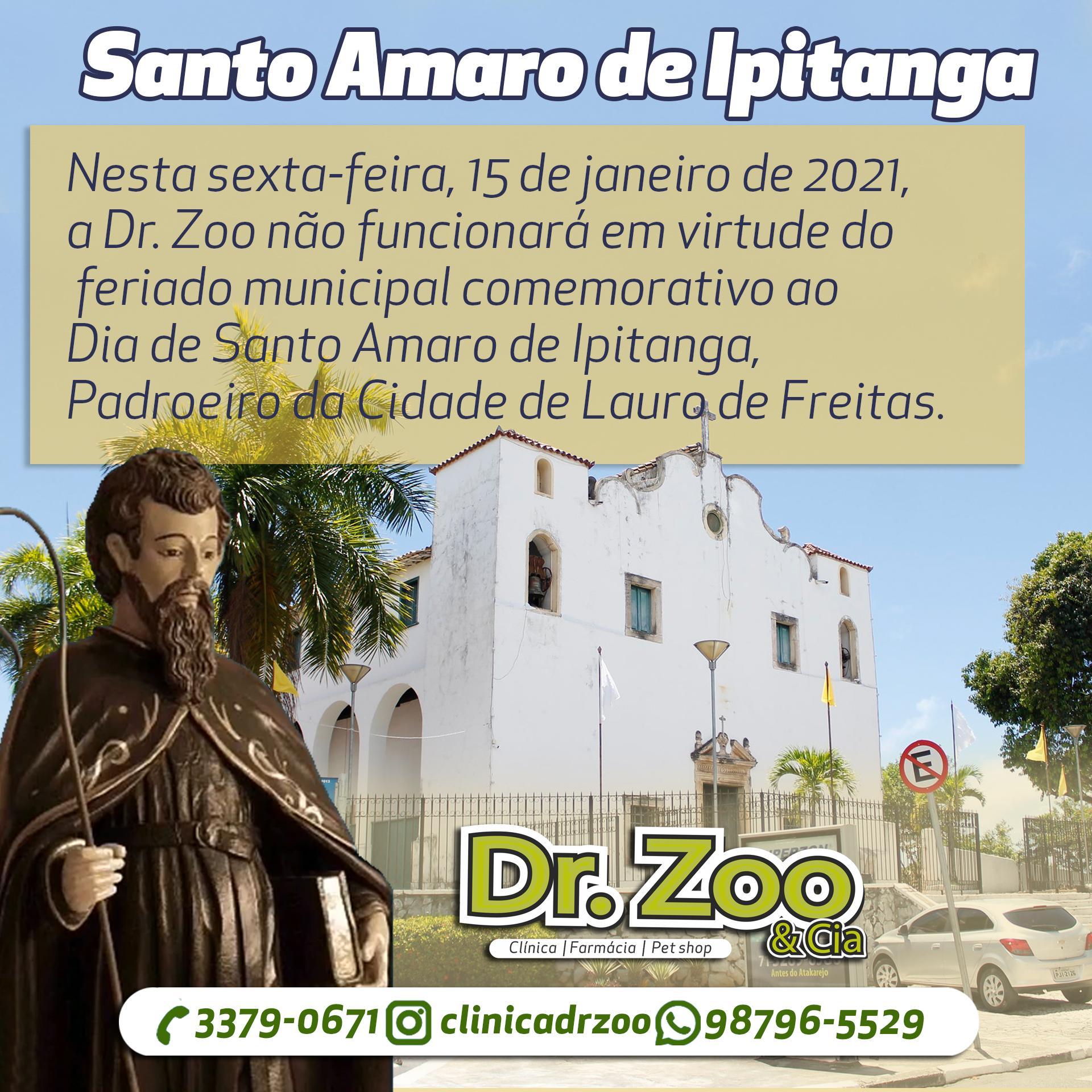 15 de janeiro - Dia de Santo Amaro de Ipitanga