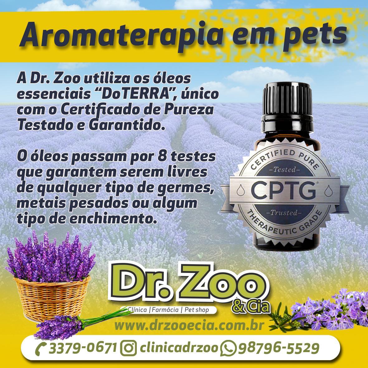 Aromaterapia em pets - Certificado de pureza
