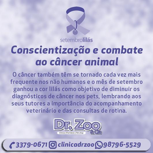 Setembro Lilás - Conscientização e combate ao câncer animal.