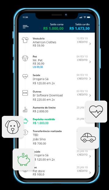 Aplicativo de cartão de crédito pag sem anuidade ou tarifas
