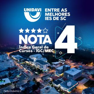 Unidavi é NOTA 4!