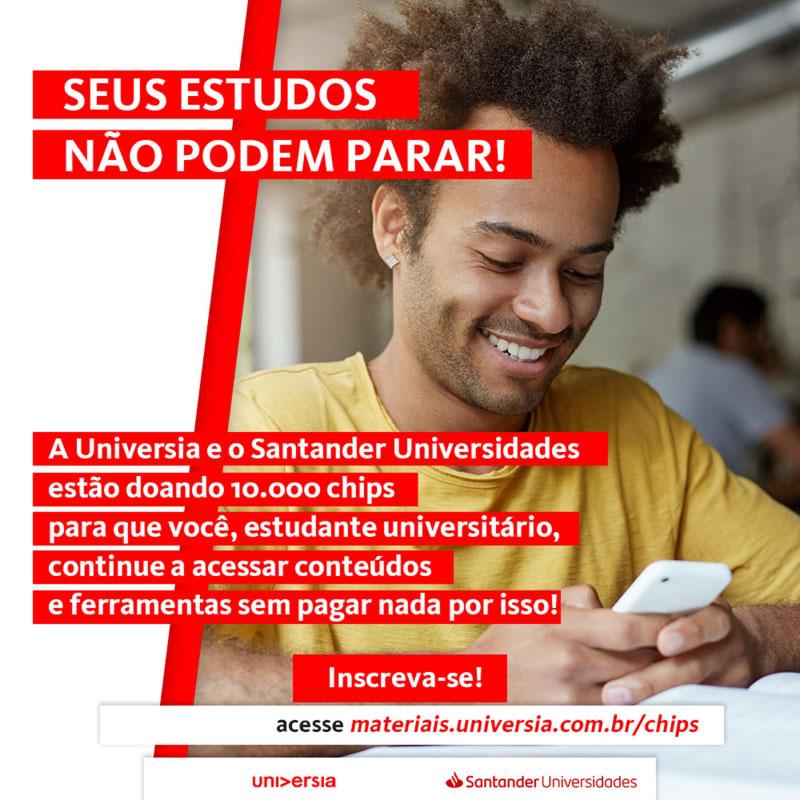 Santander Universidades e Universia Brasil doam 10 mil chips para apoiar estudantes na pandemia
