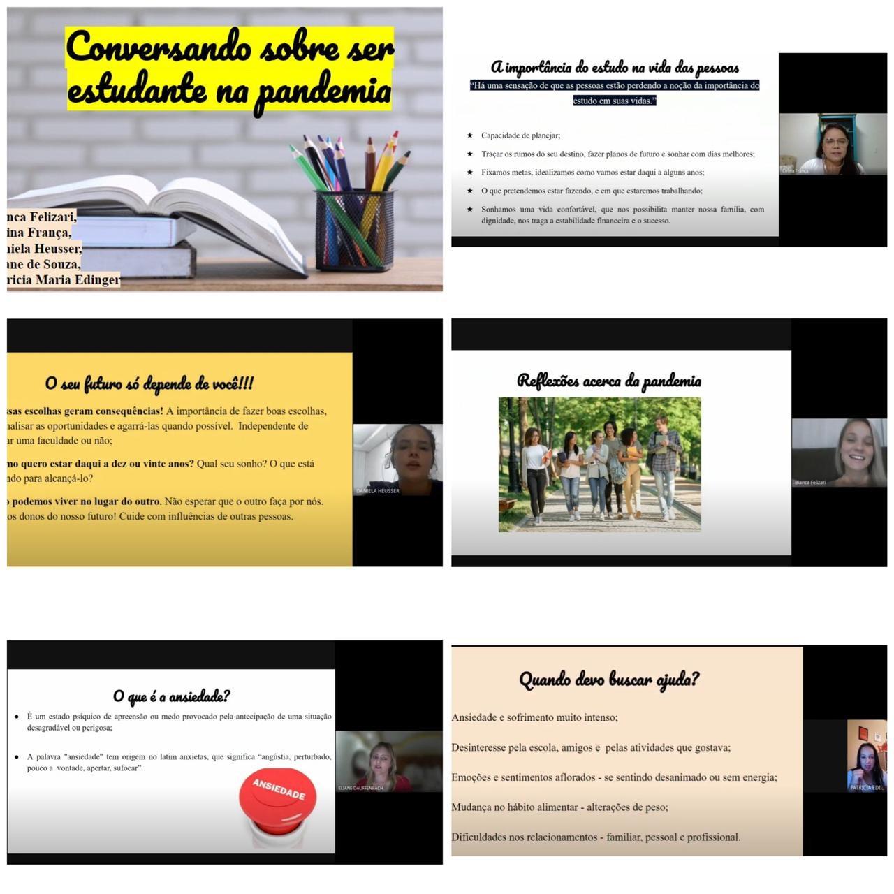 Acadêmicas de Psicologia realizam palestra para alunos de escola em Agronômica