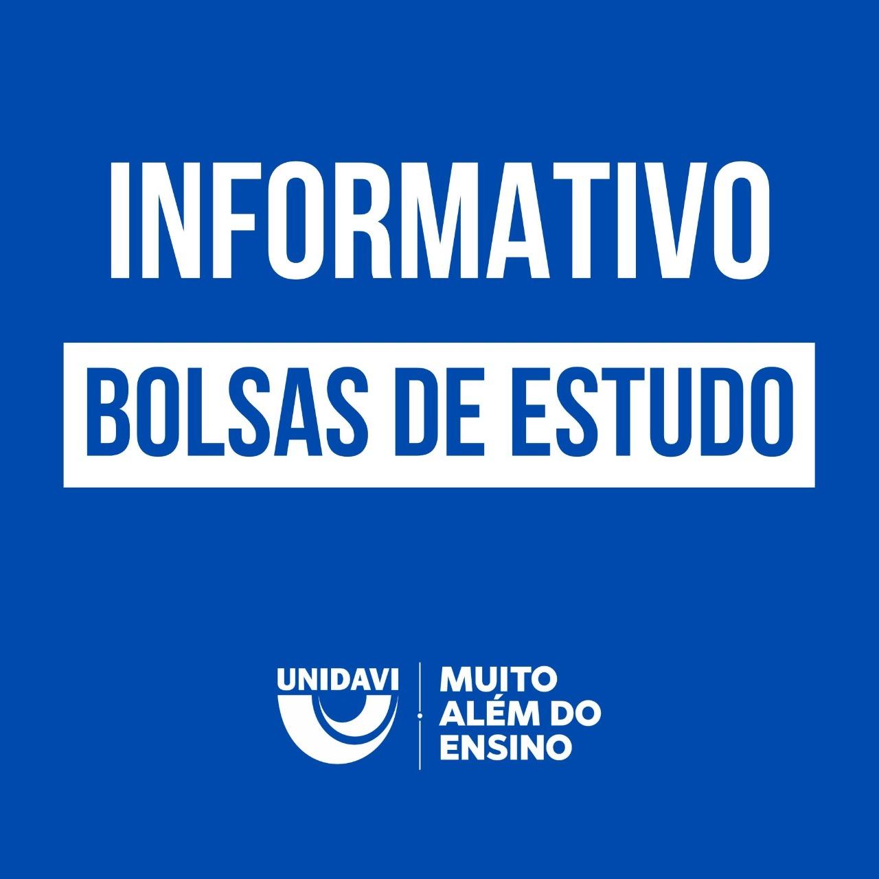 BOLSAS DE ESTUDO - UNIEDU E FILANTROPIA