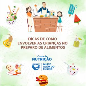 Como envolver as crianças no preparo dos alimentos?