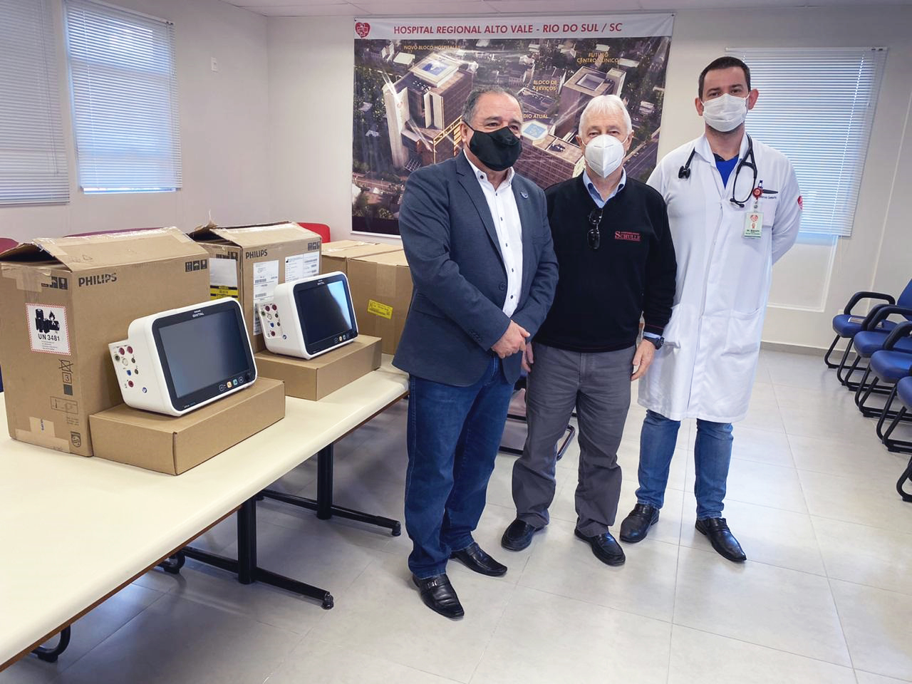 Unidavi faz entrega em comodato de Dois Monitores para Respiradores