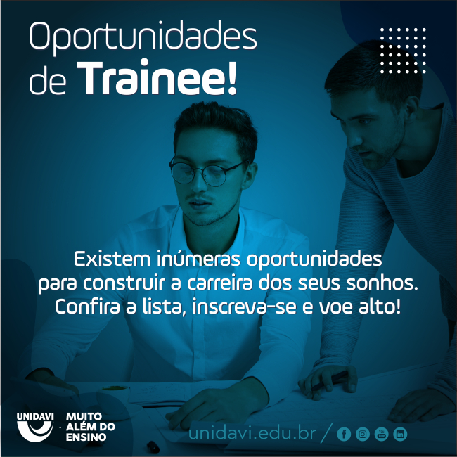 Oportunidades de Trainee!