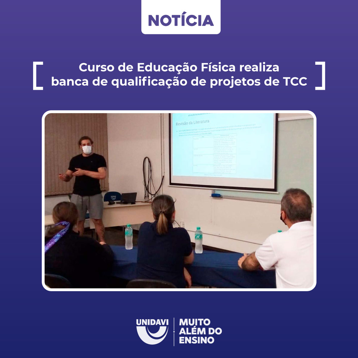 Curso de Educação Física realiza banca de qualificação de projetos de TCC