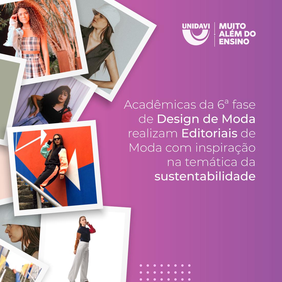 Acadêmicas da 6ª fase de Design de Moda realizam Editoriais de Moda com inspiração na temática da sustentabilidade