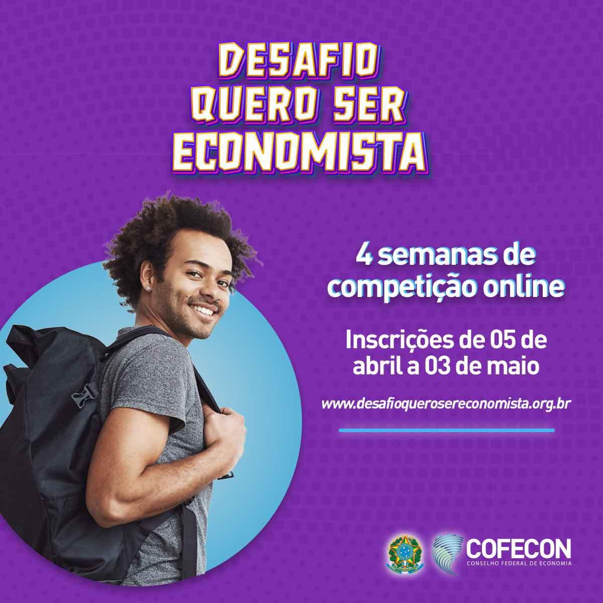 Edição 2021 do Desafio Quero Ser Economista