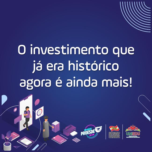 O investimento que já era histórico agora é ainda mais!