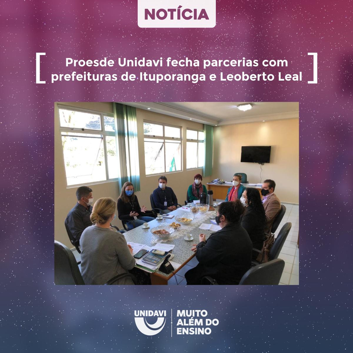 Proesde Unidavi fecha parcerias com prefeituras de Ituporanga e Leoberto Leal