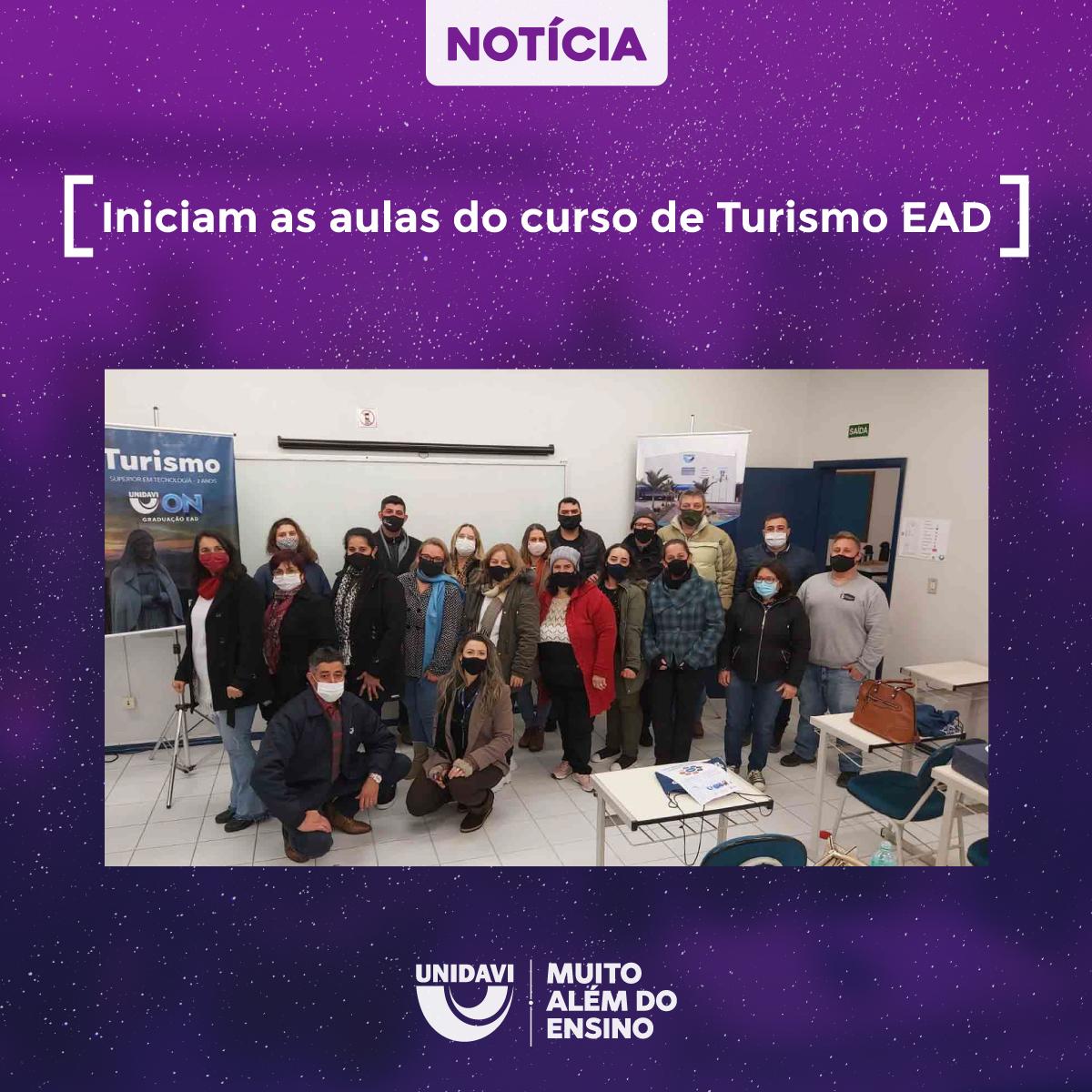 Iniciam as aulas do curso de Turismo EAD