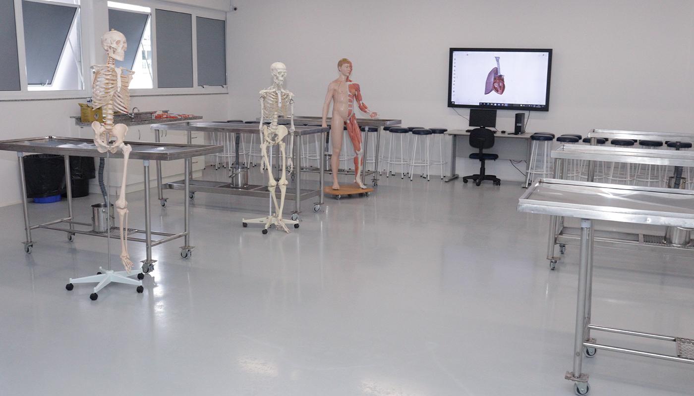 Foto1 da Estrutura - Laboratório de Anatomia Humana
