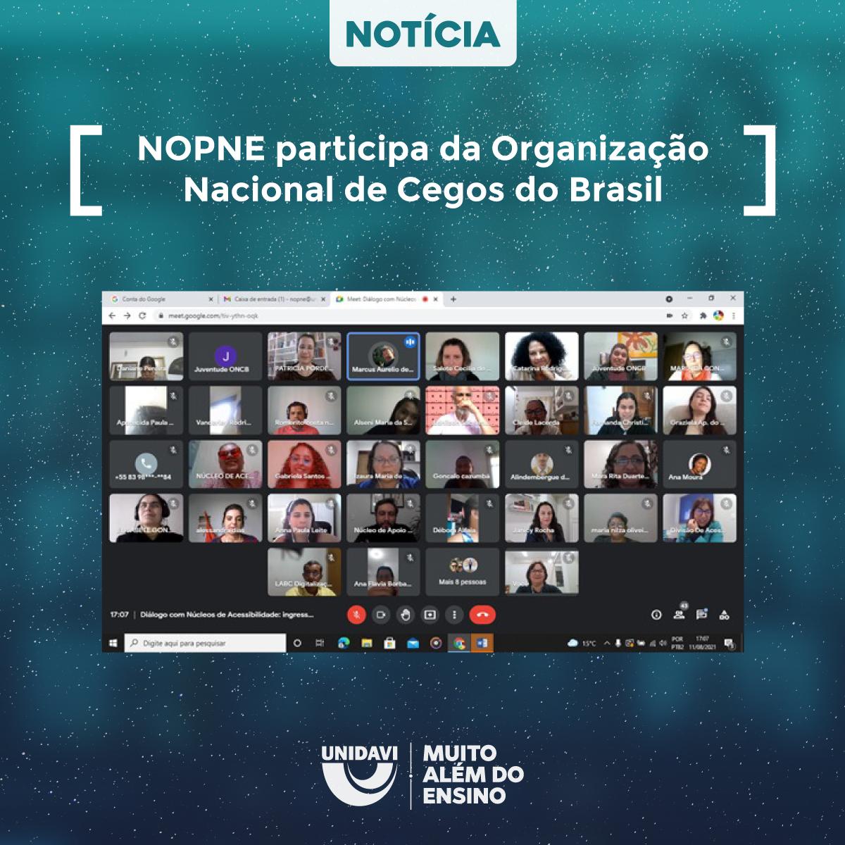 NOPNE participa da Organização Nacional de Cegos do Brasil