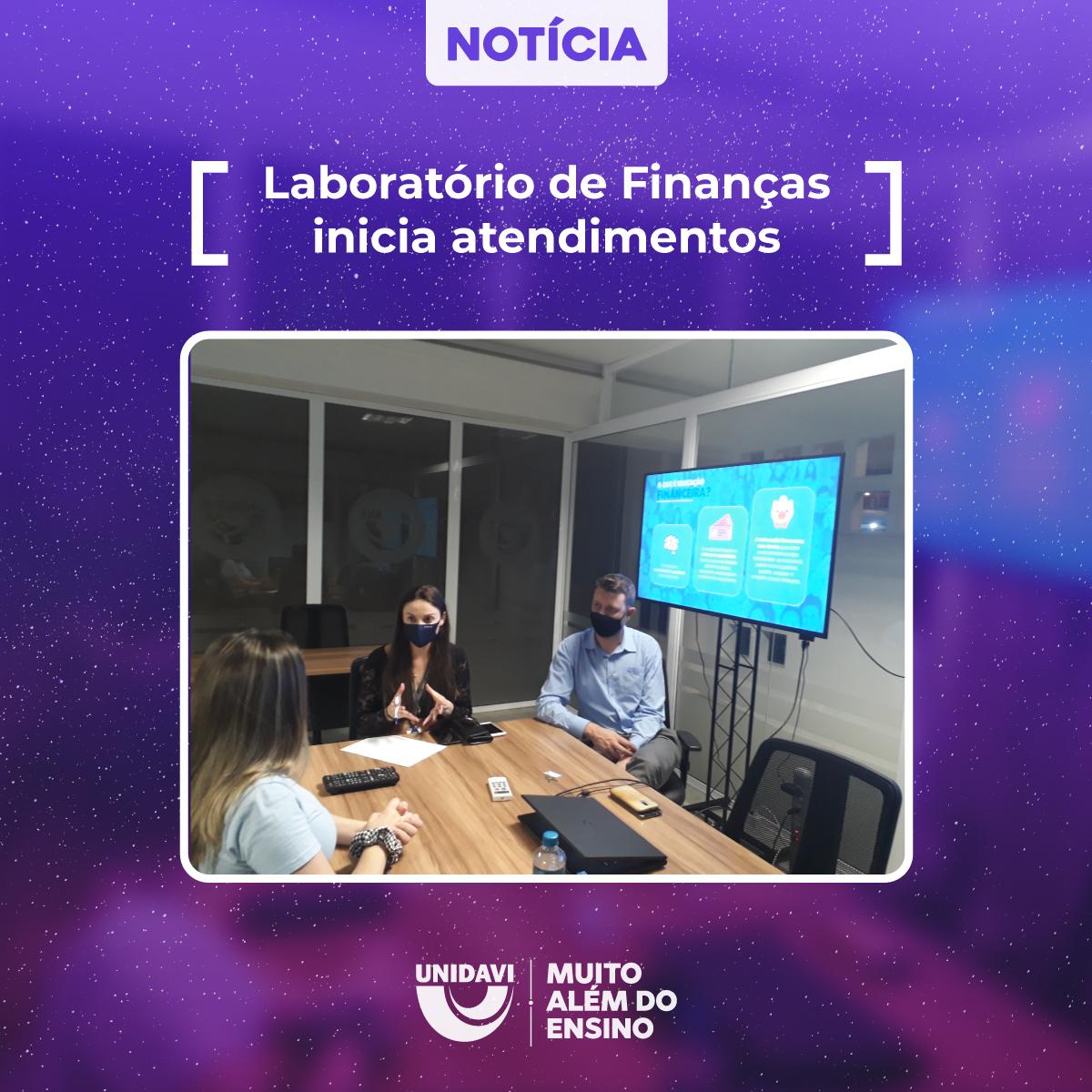 Laboratório de Finanças inicia atendimentos