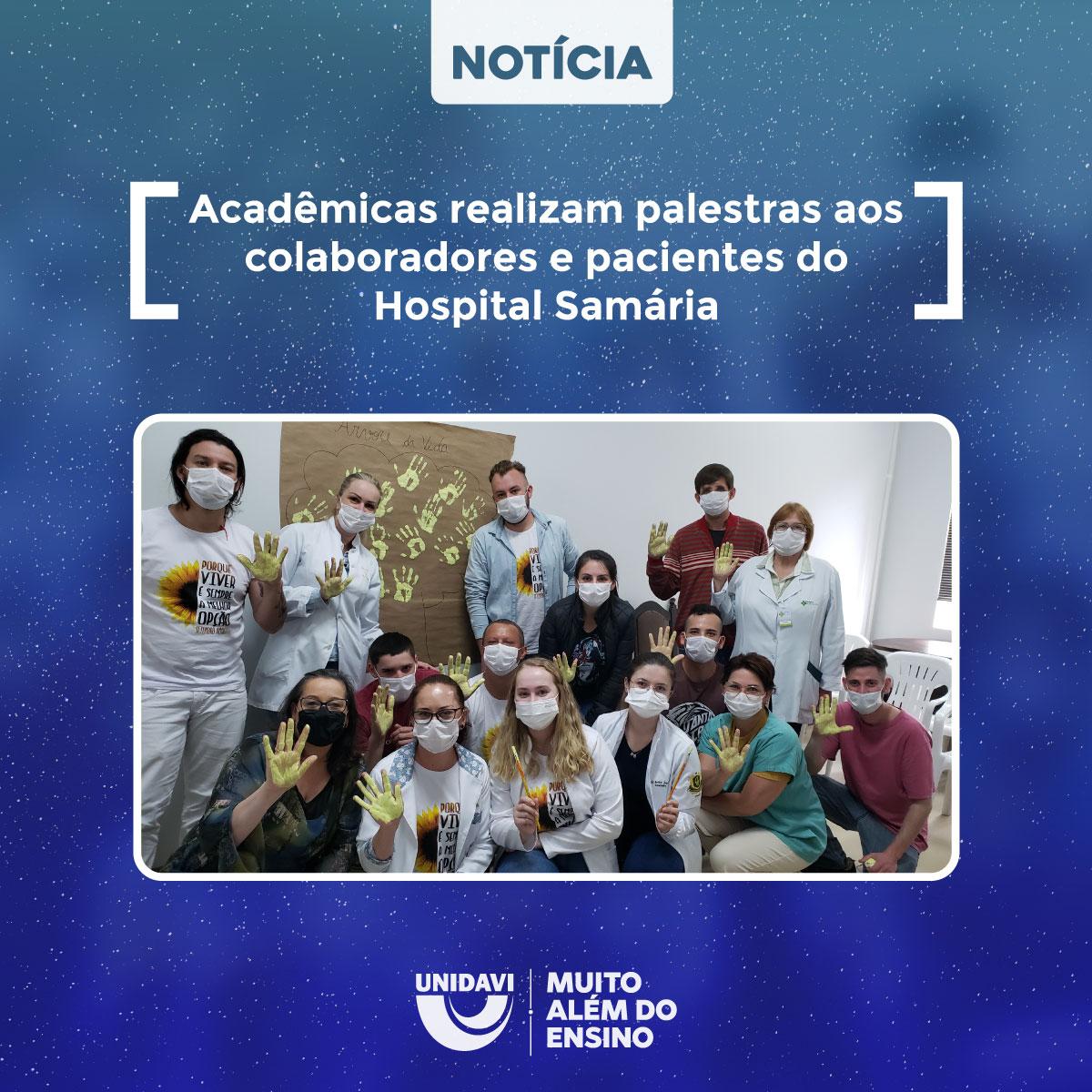 Acadêmicas realizam palestras aos colaboradores e pacientes do Hospital Samária