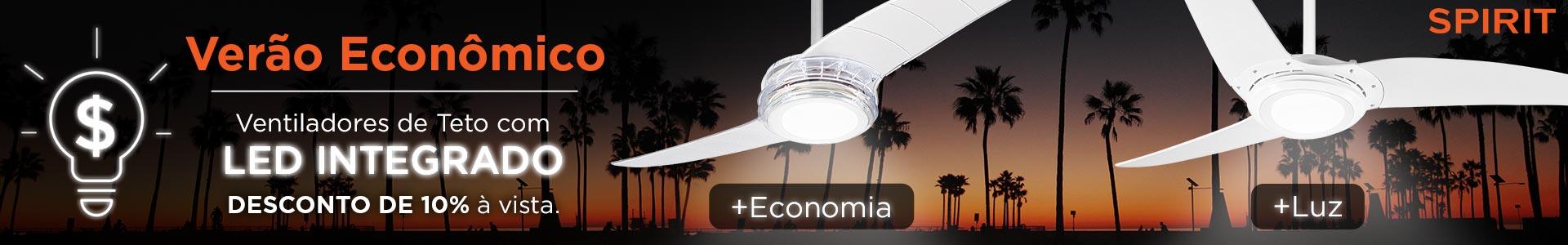 Economia de Energia -Ventilador de Teto com LED Integrado