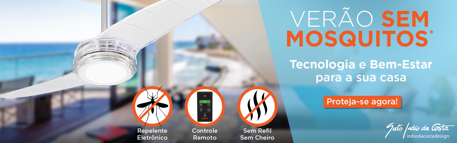 O Primeiro Ventilador de Teto Com Repelente Eletrônico de Mosquitos