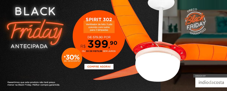 Ventilador de Teto SPIRIT 302 com 30% de Desconto