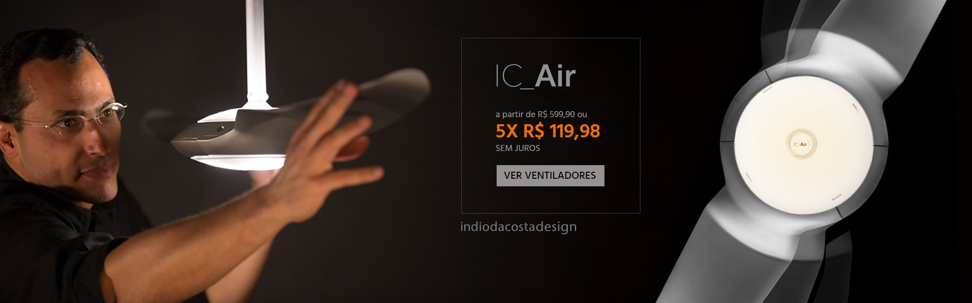 Ventiladores de Teto SPIRIT Ic Air