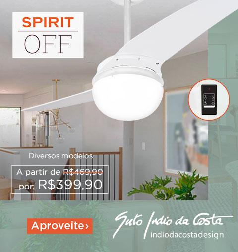 Promoção Ventilador de Teto SPIRIT OFF