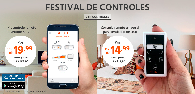 Ventilador de Teto SPIRIT - Festival de Controles