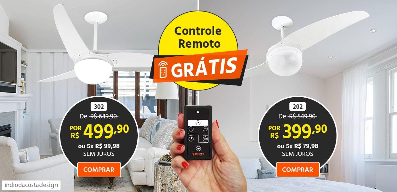 Ventilador Branco com Controle Remoto Grátis