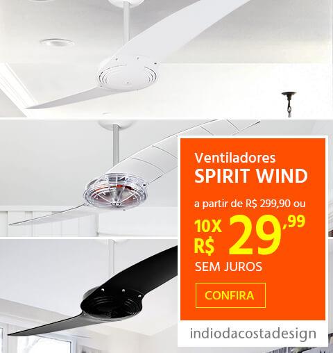 Ventiladores de Teto SPIRIT WIND a partir de R$299,90