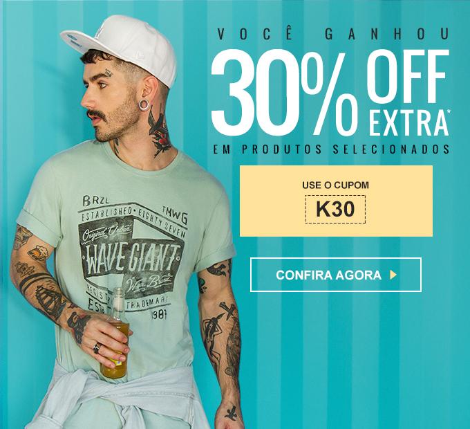 Promoção Kanui  Você GANHOU 30% OFF Extra em Camisetas 3bbbafb07c252