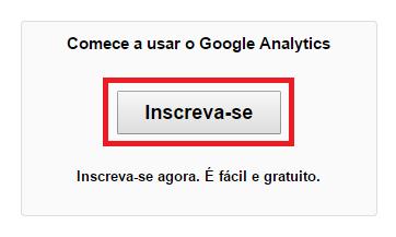 Criar Conta - Google Analytucs