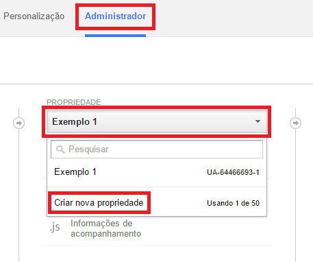 Adicionar Site - Google Analytics