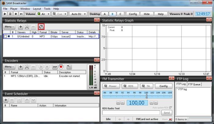 Estatísticas - SAM Broadcaster