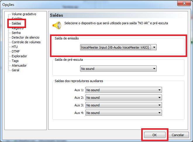 Configurar ZaraRadio com VoiceMeeter